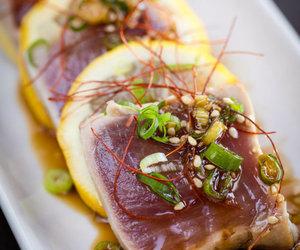 fish, tuna, and food image