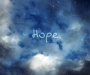 hope, sky, and blue image