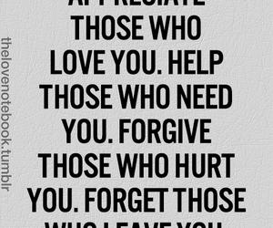 quote, appreciate, and forgive image