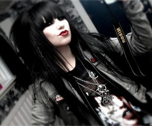 girl, gothic, and black hair image