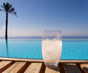 drinks, sea, and water image