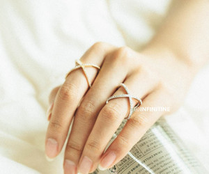 wedding ring, engagement ring, and bridesmaid gift image