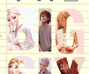 anna, jack frost, and rapunzel image