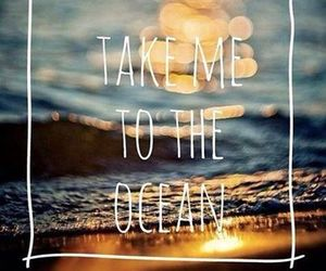 ocean, summer, and quote image