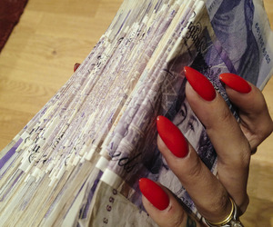 money, nails, and cash image