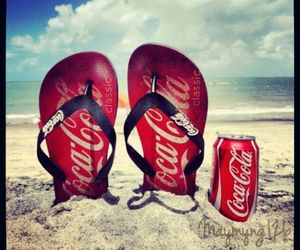 beach and coca cola image