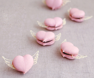 pink, heart, and food image