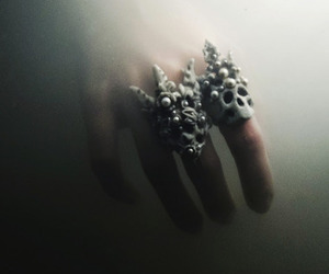 dark and skull image
