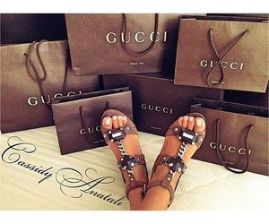 gucci, shopping, and shoes image