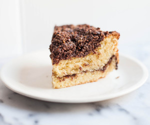 cake, chocolate, and nuts image
