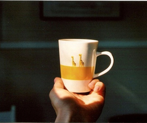 cup, vintage, and giraffe image