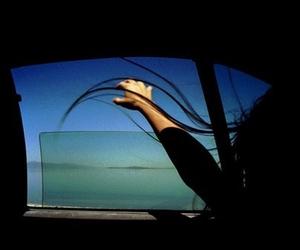 car, hair, and window image