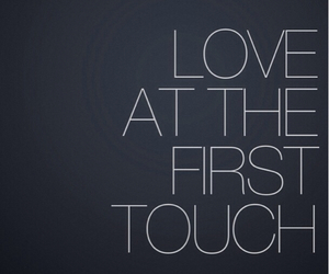 first, me and you, and touch image
