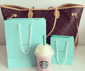 bag, Louis Vuitton, and starbucks image