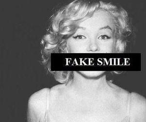 smile, fake, and Marilyn Monroe image