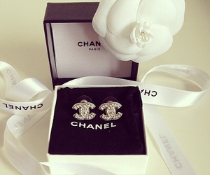 chanel, fashion, and earrings image
