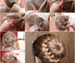 braid, hair style, and hairstyles image
