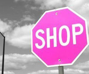 pink, shop, and shopping image