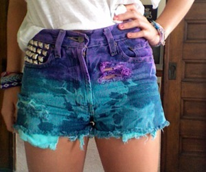 shorts, purple, and short image