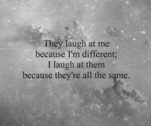 different and laugh image