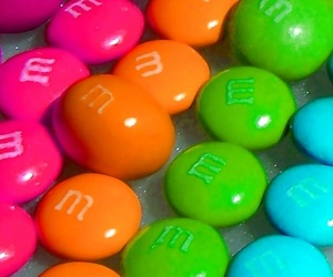 candy, m&m, and pink image