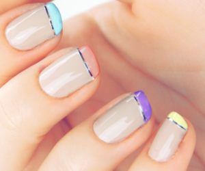nails, nail art, and french image