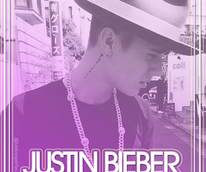 cover, purple, and justin bieber image