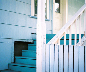 blue, indie, and stairs image