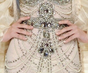detail, dress, and gorge image
