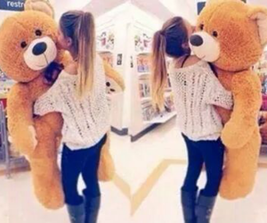 girl, bear, and cute image