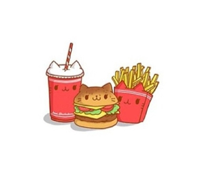 cat, food, and fries image