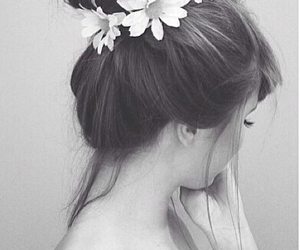 flowers, hair style, and cute image