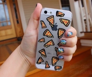 iphone, pizza, and tumblr image