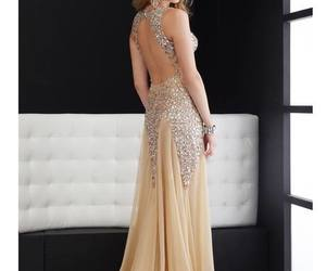 ballgown, light yellow, and sparkly prom dress image