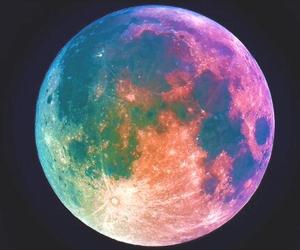 moon, night, and galaxy image