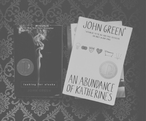 black and white, books, and john green image
