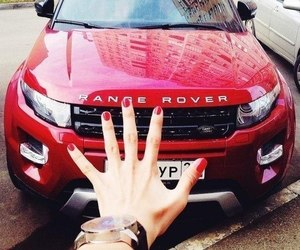 car, range rover, and red image