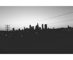 city, black and white, and night image