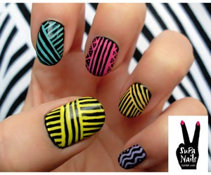 nails, cool, and colors image