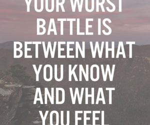 quote, battle, and life image