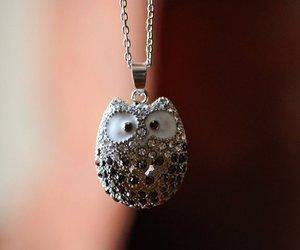 beautiful, crystals, and owl image