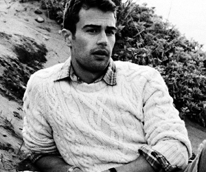 black and white, Hot, and theo james image