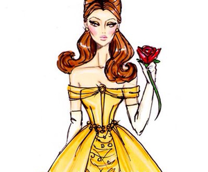 belle, disney, and fashion image