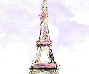 paris, eiffel tower, and drawing image