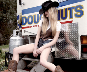 blonde, boots, and hat image