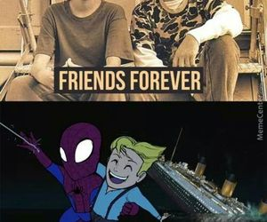 titanic, spiderman, and friends image