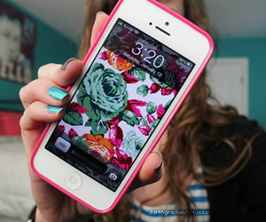 iphone, girl, and phone image