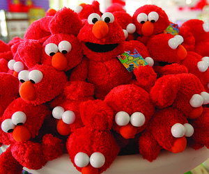 elmo, red, and toys image