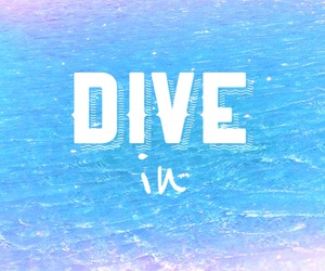 summer, dive, and dive in image