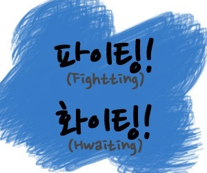 blue, fighting, and korean image